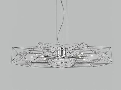 Lampada a sospensione a LED in metallo verniciato