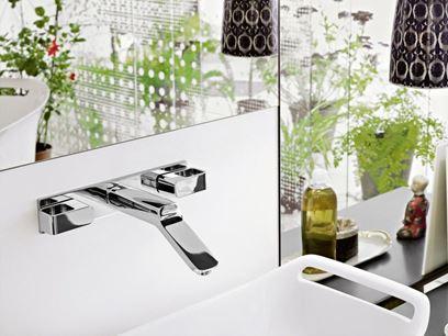 3 hole wall-mounted washbasin tap