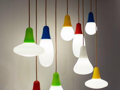 Lampada a sospensione a luce diretta in polietilene