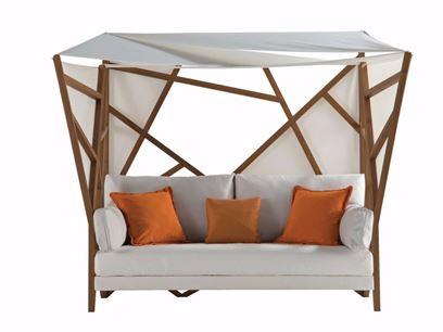 Canopy fabric garden sofa