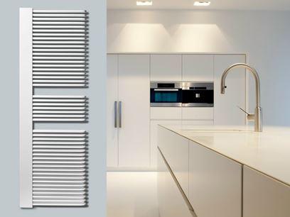 Low temperature vertical steel decorative radiator