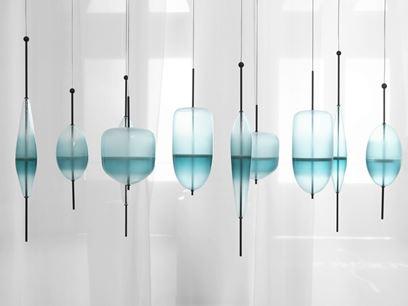 Lampada a sospensione in vetro di Murano