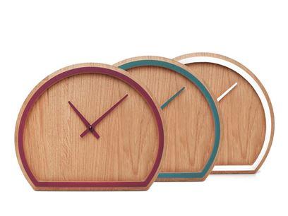 Reloj de mesa de madera maciza