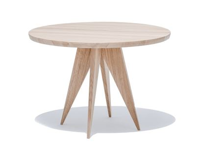 Round English oak dining table