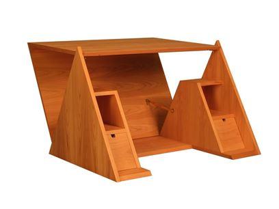 Cherry wood secretary desk