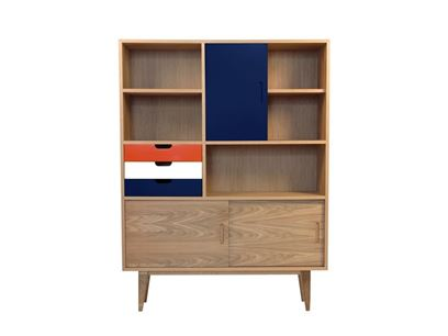 Highboard with sliding doors