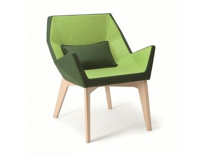 Upholstered fabric easy chair