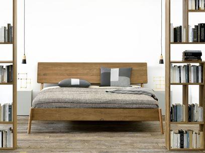 Teak double bed