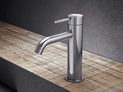 Countertop single handle stainless steel washbasin mixer