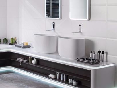 Countertop Krion® washbasin