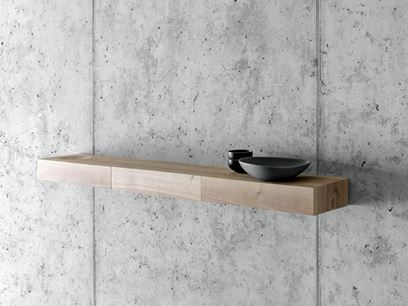 Walnut wall shelf