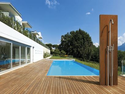 Stainless steel shower panel / outdoor shower