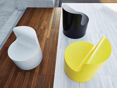 Coated foam easy chair