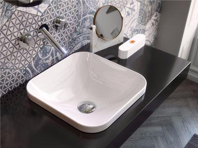 Vasque à encastrer carré en céramique