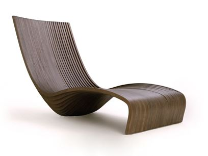 Banak wood lounge chair