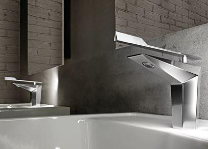 Brass washbasin mixer