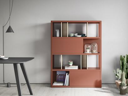 Freestanding solid wood bookcase