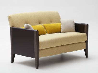 Upholstered 2 seater fabric sofa