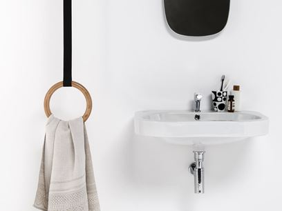 Ceiling mounted towel ring
