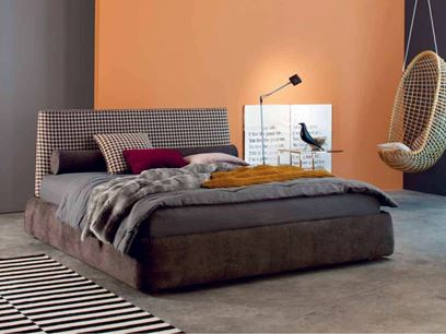Fabric double bed