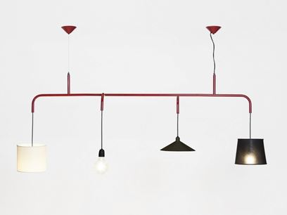 Modular steel pendant lamp