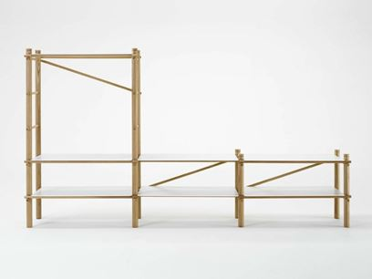 Estantería composable modular de madera