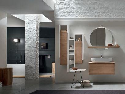 Mueble de baño / mueble bajo lavabo de roble