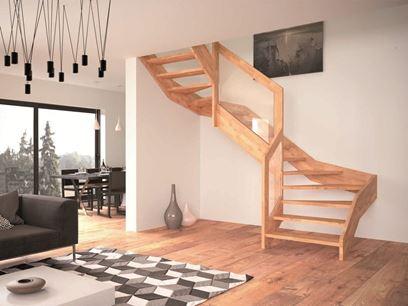 Escalera abierta de madera
