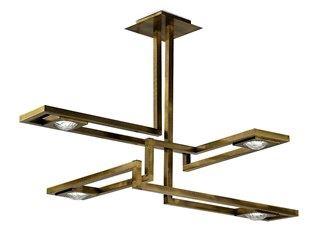 LED brass pendant lamp