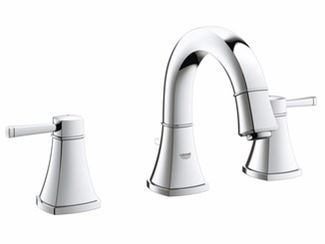3 hole countertop washbasin tap with pop up waste