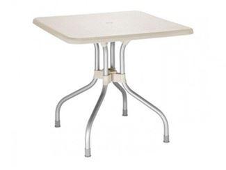 Table rabattable de jardin carrée en polypropylène