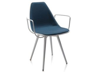 Upholstered chair with armrests