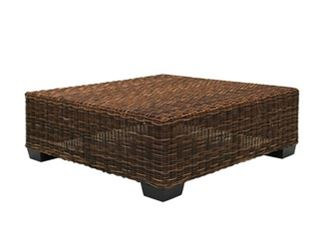 Low Square side table in handwoven black pulut