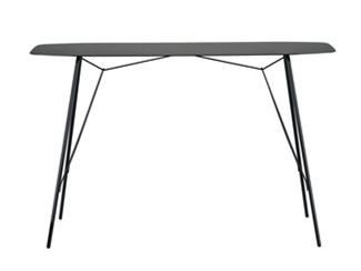 Lacquered rectangular console table