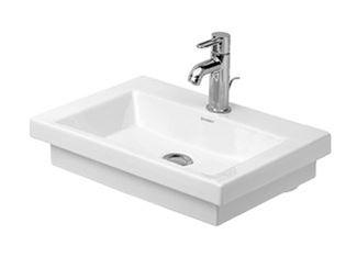 Countertop rectangular ceramic handrinse basin
