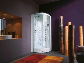 Cabine de douche multifonction semi-circulaire à vapeur
