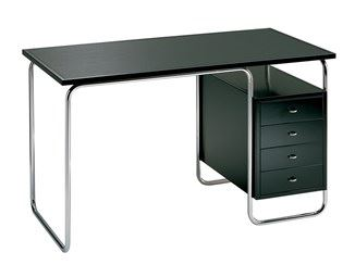 Stainless steel office desk with drawers