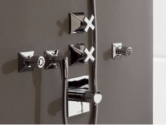 3 hole thermostatic shower tap