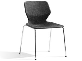 Stackable fabric chair