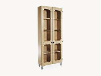 Wood veneer bookcase / display cabinet