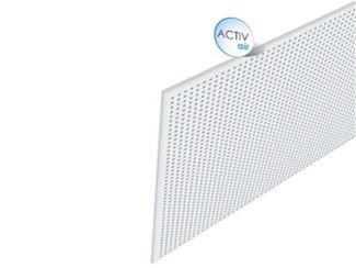 Acoustic plasterboard ceiling tiles